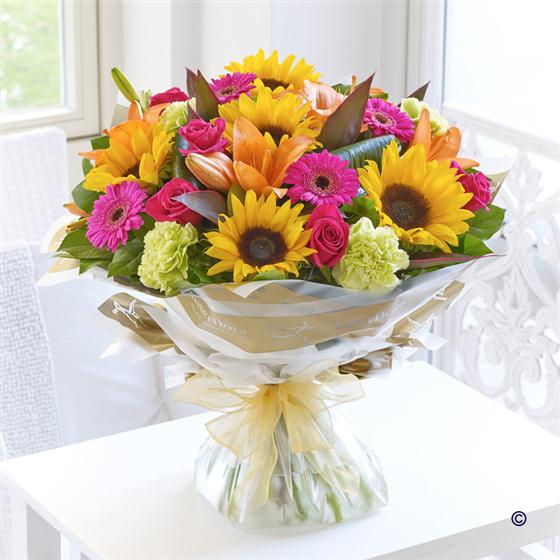 Extra Large Sunflower Mixed Hand-tied